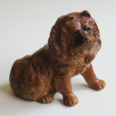 Dog Figurine Chow Chow Painted Resin