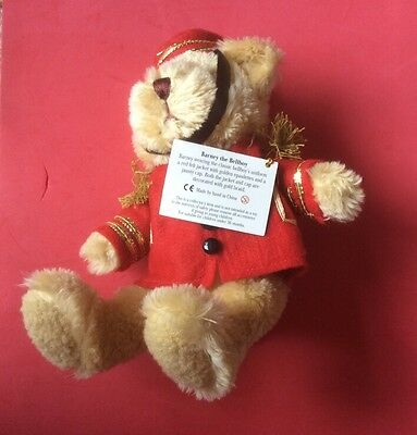 "SOFT TOY. THE TEDDY BEAR COLLECTION  BARNEY THE BELLBOY 9"" tall"