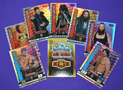 Topps 2017 SLAM ATTAX 10 (10th Edition) TCG WWE - Champion Superstar Foil cards