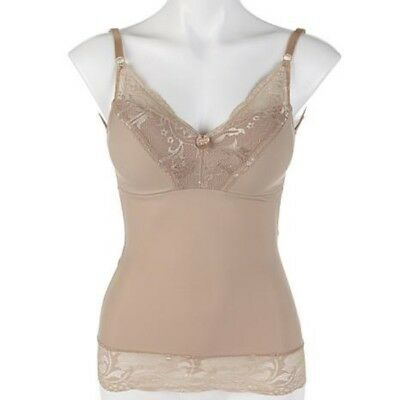 Rhonda Shear Nude Pin-up Girl Lace Cami Camisole New Built in Bra