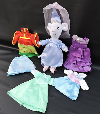 Angelina Ballerina  Mouse with 6 Pretty Dresses Bundle Good Condition