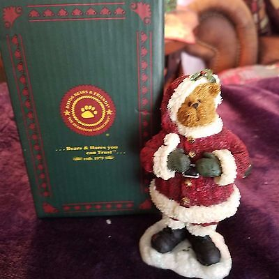Boyds Bears Bearstone Kringle Wigglebeary Retired