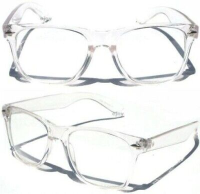 CLEAR LENS TRANSPARENT FRAME Classic Style RETRO Horn Rim EYE GLASSES New