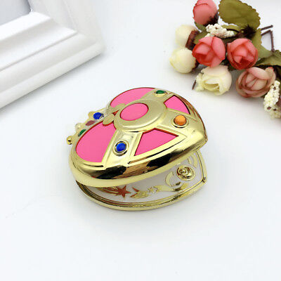 Sailor Moon Make Up Mirror Box Plastic Pink Heart Cosplay Prop Women Gift