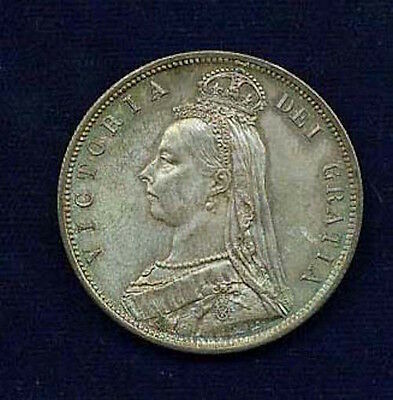 England Victoria 1887 Half-Crown Coin, Uncirculated