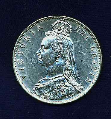 G.b./u.k./england Victoria  1887 Half-Crown Coin, Just About Uncirculated