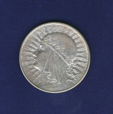 Poland  1932  10 Zlotych Silver Coin, London Mint, Just About Mint State!