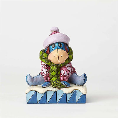 Disney Traditions Jim Shore 2017 Winnie the Pooh's EEYORE Winter Figurine