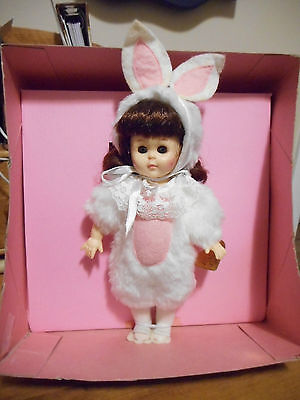 "Vogue Ginny Doll - Bunny 1987c 8"" Poseable Hard Plastic Strung w/Box"