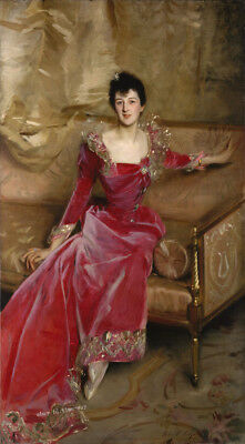 Lady Portrait by John Singer Sargent oil painting Printed on canvas P939