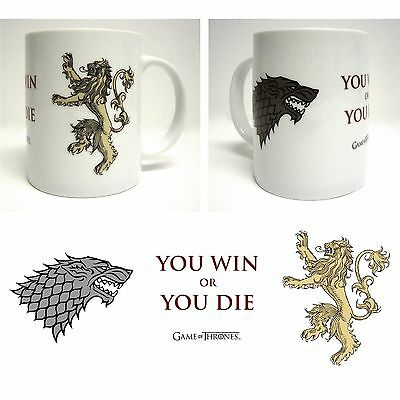 Game of Thrones Ceramic Gift Mug - You Win or You Die (New)
