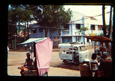 (20) original 1967 Vietnam army military  photo slides Vũng Tàu  market town