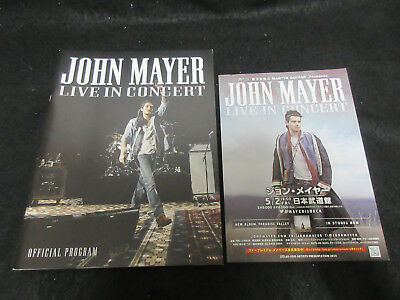 John Mayer Live in Concert 2014 Japan Tour Program Book with Japanese Flyer