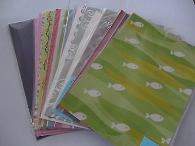 Bulk A4 Patterned Paper - Set 5 - 15 Packets - Great Patterns - NEW