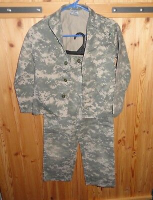 Army Style  Digital Camouflage Shirt Pants Uniform   - Size 8    - Troppers