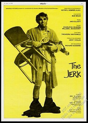 1979 Steve Martin photo The Jerk movie trade print ad