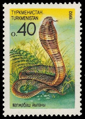 "TURKMENISTAN 30 - Central Asian Wildlife ""Black Cobra"" (pa34774)"