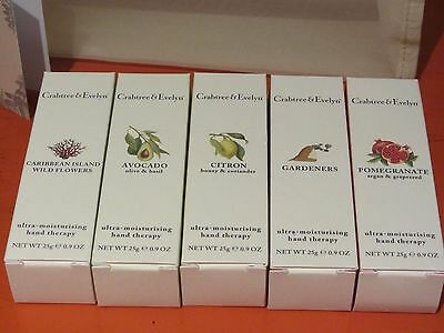 Crabtree & Evelyn - BOXED HAND THERAPY - 5 x 25g - Hand Cream Perfect Gifts NEW