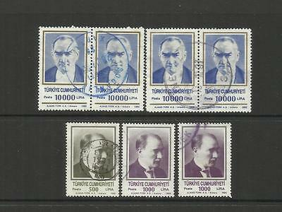 Turkey Turkiye ~ 1990-92 Kemal Ataturk (Postally Used)
