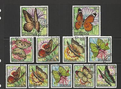 Burundi ~ 1968 Butterflies (Part Set)