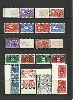 FRANCE ~ 1962-66  EUROPA CEPT (small collection)