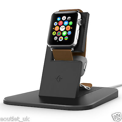 Twelve South HiRise Charging Stand/Cradle Charger for Apple Watch iWatch Black