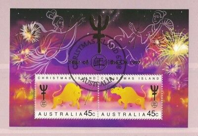 1997 Christmas Island Year of the Ox SG 436 MS fine used