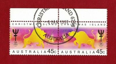1997 Christmas Island Year of the Ox SG 434/5 fine used set