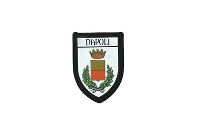 Patch printed embroidery travel souvenir shield city flag naples italy