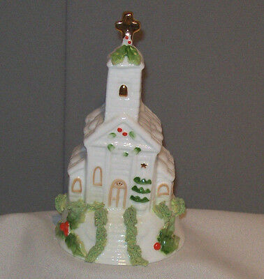 Decorated Church Design White Porcelain Bell