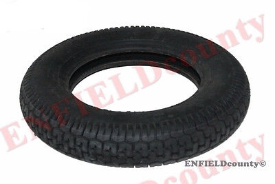 "Single Unit Front Rear Mrf Lambretta Vespa 3.5"" X 10"" Rubber Wheel Tyre  @cad"