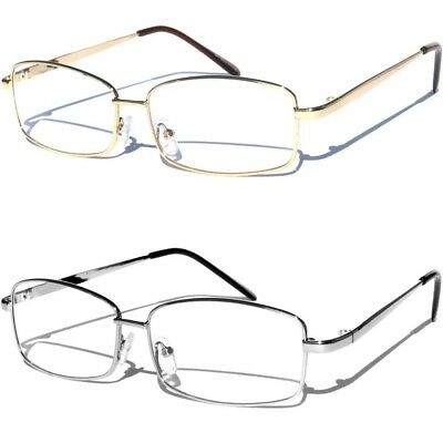 Medium Frame Metal Front Clear Lens Eye Glasses Designer Style Fashion Eyewear