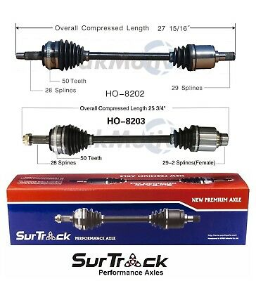 Front Driver Left CV Axle Shaft SurTrack HO-8178 for Acura TL Honda Accord 03-08