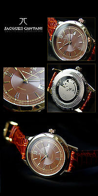 Gilded Automatic Men's Watch Series Auriga -cantani Beautiful Plaque Gold NEW