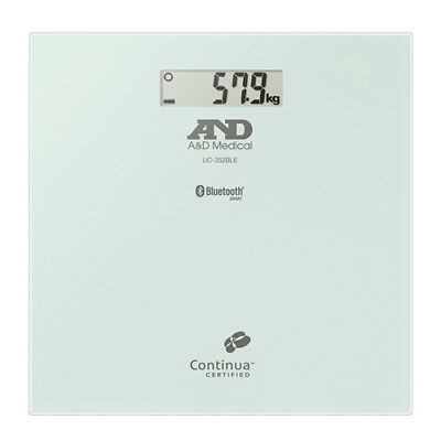 New Genuine A&d Medical 200Kg Precision Body Weight Scale With Bluetooth White
