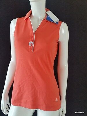 BRAX GOLF LADIES PoloShirt Senna Orange Cooltech gr.m NEW