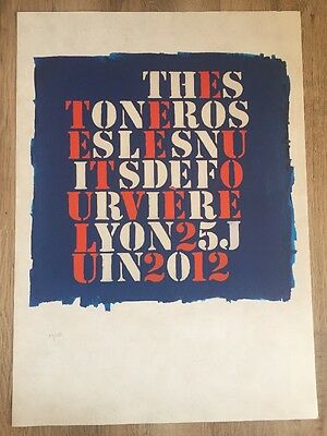 The Stone Roses - Lyon Lithograph gig poster, June, 2012