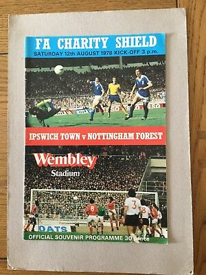 IPSWICH TOWN v NOTTINGHAM FOREST ( Charity Shield ) 1978.