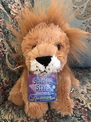 Russ Berrie Shining Stars Plush Lion  Soft Fuzzy New with all tags #C4