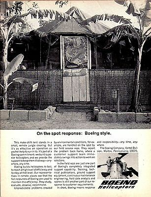 1967 Boeing Vertol Helicopter Field Reps Tent Viet Nam Photo AD