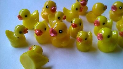 Ducks x 20 small assorted SLIGHT SECONDS CRAFTS  DOLLS HOUSE MINIATURES (F6105)