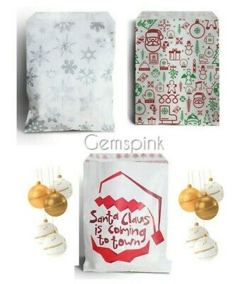 Candy Christmas Santa Xmas Paper Sweet Gift Shop Party bags  Birthday 5 x 7""