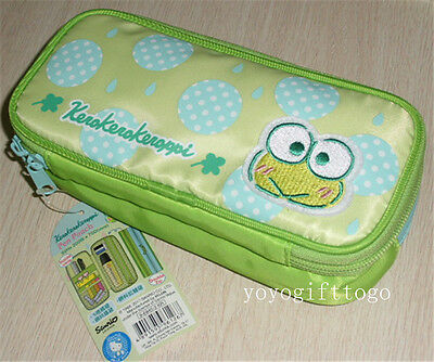 2017 Sanrio Keroppi Double Deck Pencil case  Cosmetic bag Multipurpose pouch