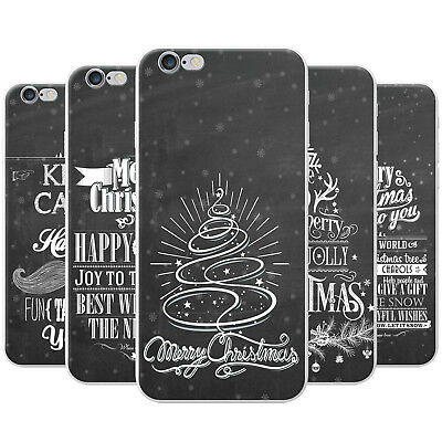Black Vintage Typography Christmas Hard Case Phone Cover for Apple Phones