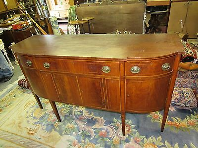 Antique inlaid sideboard handmade buffet