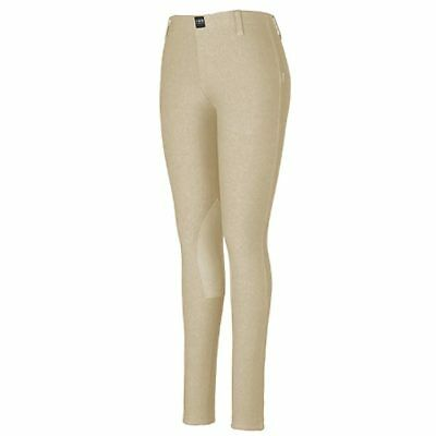 Large Devon Aire Stretch Cotton X Wear Ladies Hipster Horse Riding Tight Sand