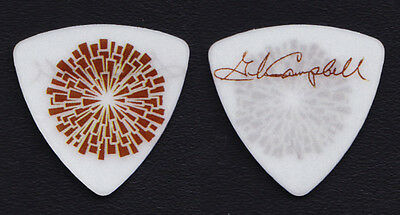 Glen Campbell Signature White/Brown Guitar Pick - 2012 Goodbye Tour