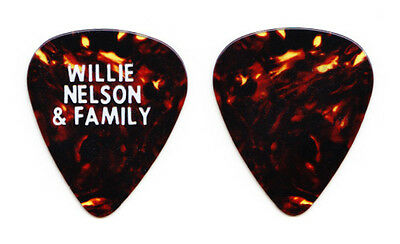 Willie Nelson & Family Brown Guitar Pick - 1980s Tours