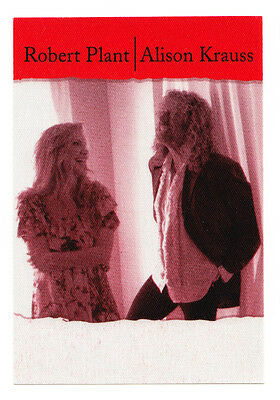 Robert Plant Alison Krauss Red Backstage Pass - 2008 Raising Sand Tour