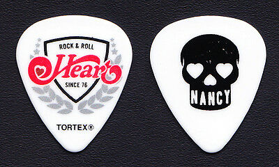 Heart Nancy Wilson White Guitar Pick - 2016 Rock Hall Three For All Tour